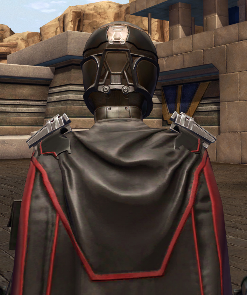 Masterwork Ancient Field Tech Armor Set detailed back view from Star Wars: The Old Republic.