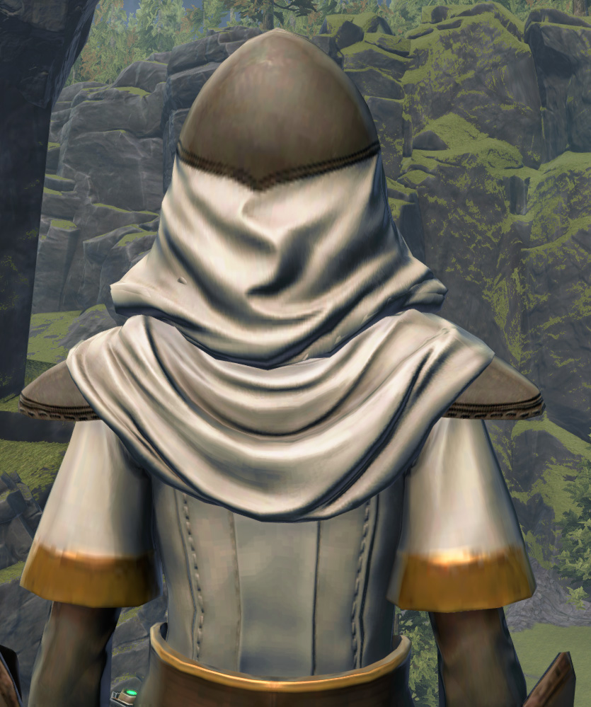Temple Guardian Armor Set detailed back view from Star Wars: The Old Republic.