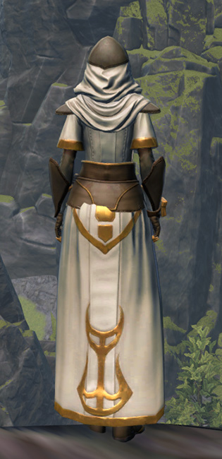 Temple Guardian Armor Set player-view from Star Wars: The Old Republic.