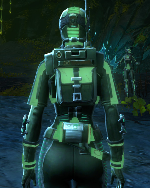 THORN Dark Vector (Green) Armor Set Back from Star Wars: The Old Republic.