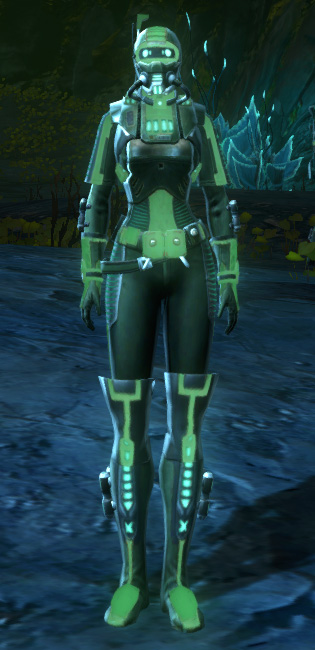 THORN Dark Vector (Green) Armor Set Outfit from Star Wars: The Old Republic.