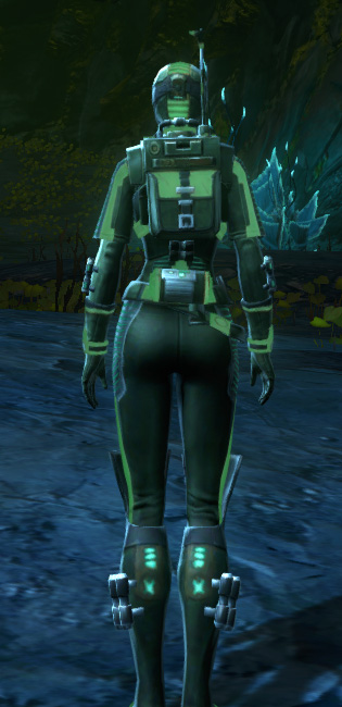 THORN Dark Vector (Green) Armor Set player-view from Star Wars: The Old Republic.