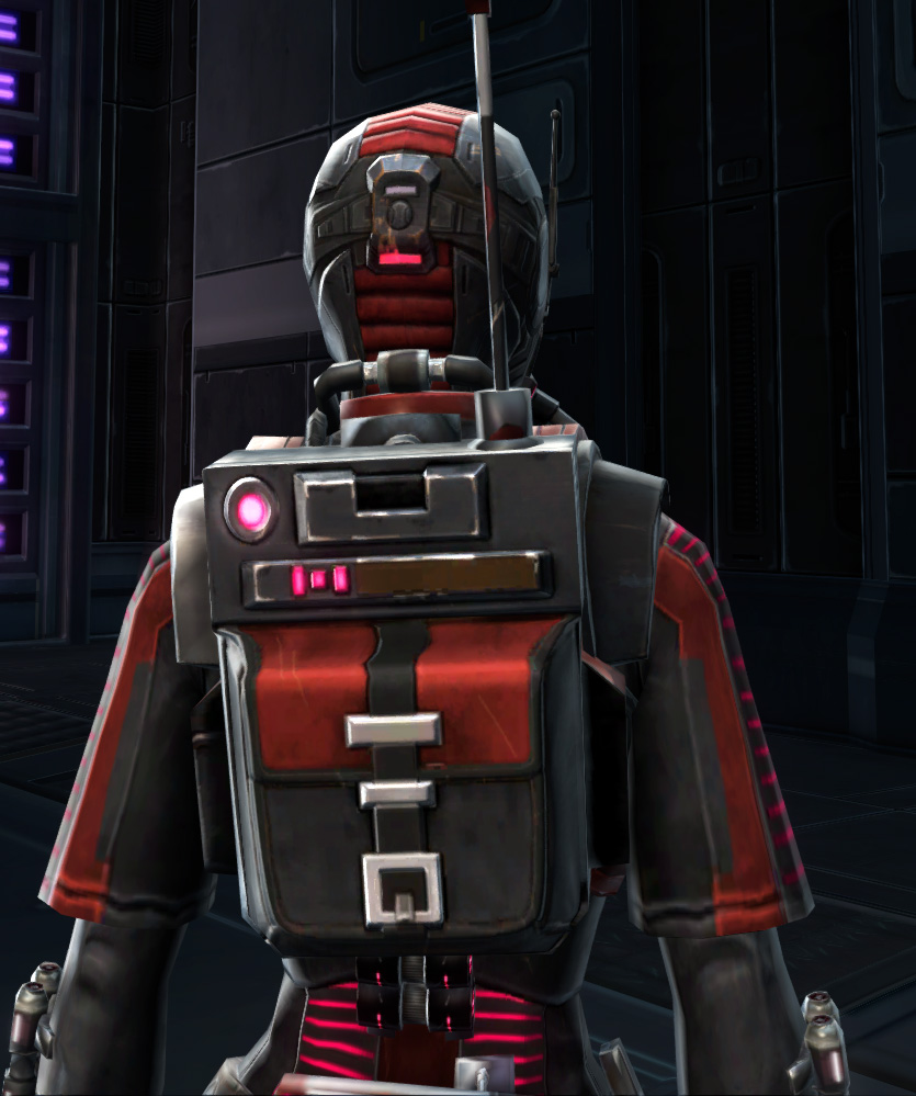 THORN Sanitization Armor Set detailed back view from Star Wars: The Old Republic.