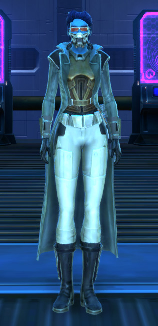 Titanium Onslaught Armor Set Outfit from Star Wars: The Old Republic.