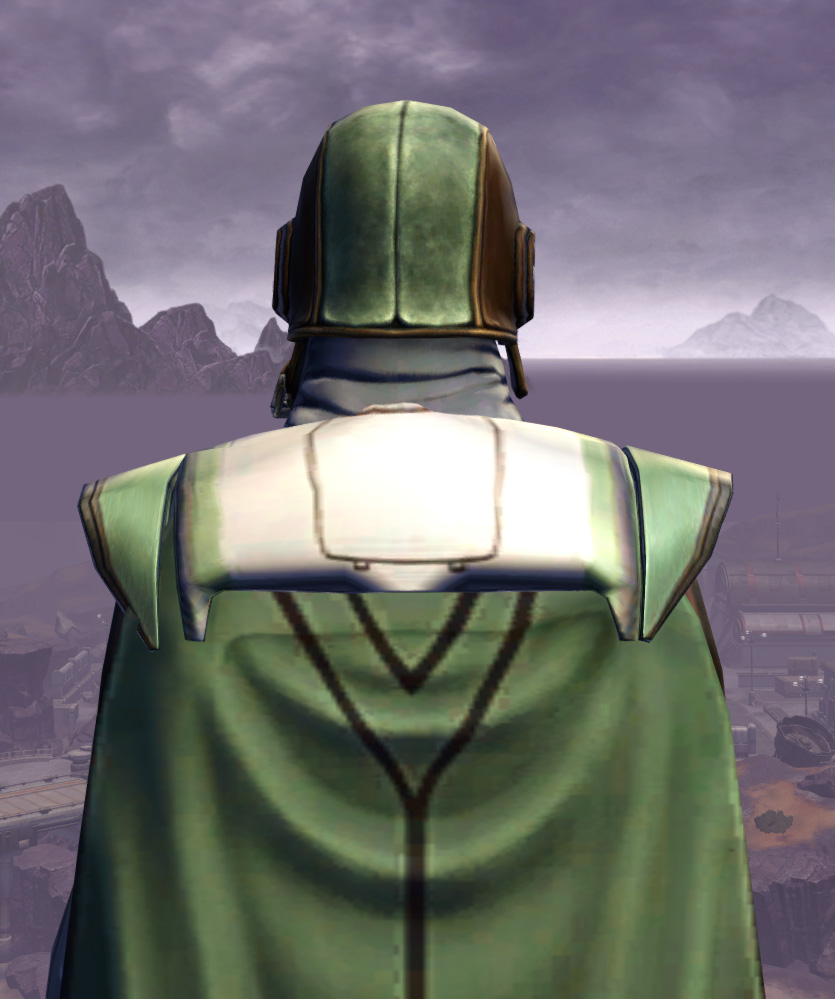Titanium Onslaught Armor Set detailed back view from Star Wars: The Old Republic.