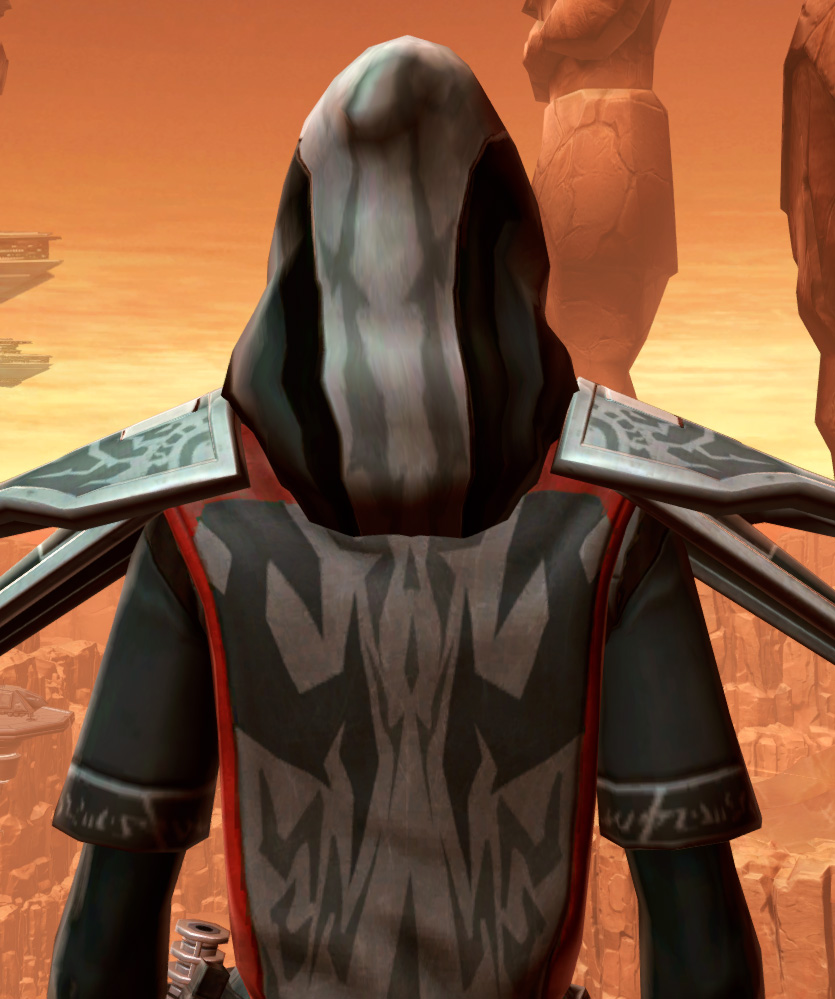 Traditional Thermoweave Armor Set detailed back view from Star Wars: The Old Republic.