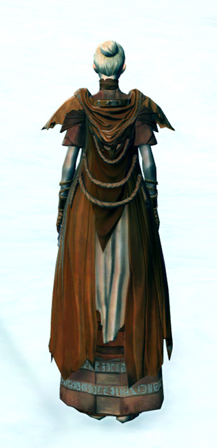 Tribal Hermit Armor Set player-view from Star Wars: The Old Republic.