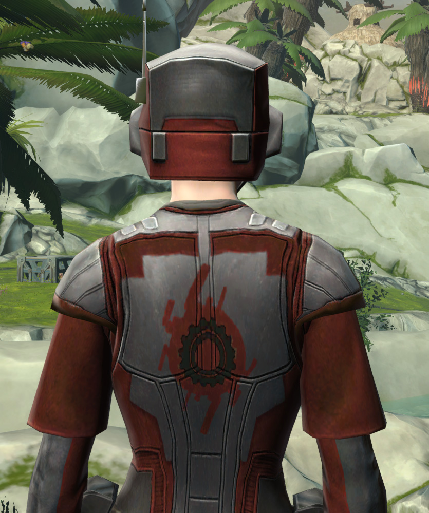 Ubrikkian Industries Corporate Armor Set detailed back view from Star Wars: The Old Republic.