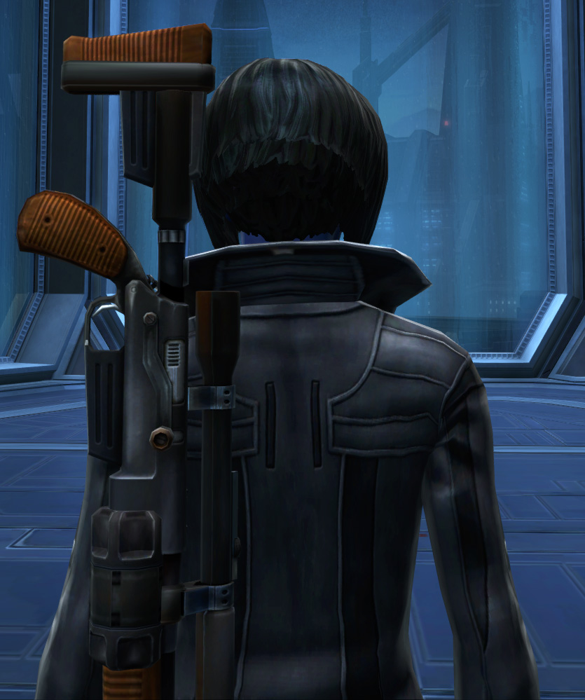 Unfettered Trench Coat Armor Set detailed back view from Star Wars: The Old Republic.