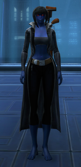 Unfettered Trench Coat Armor Set Outfit from Star Wars: The Old Republic.