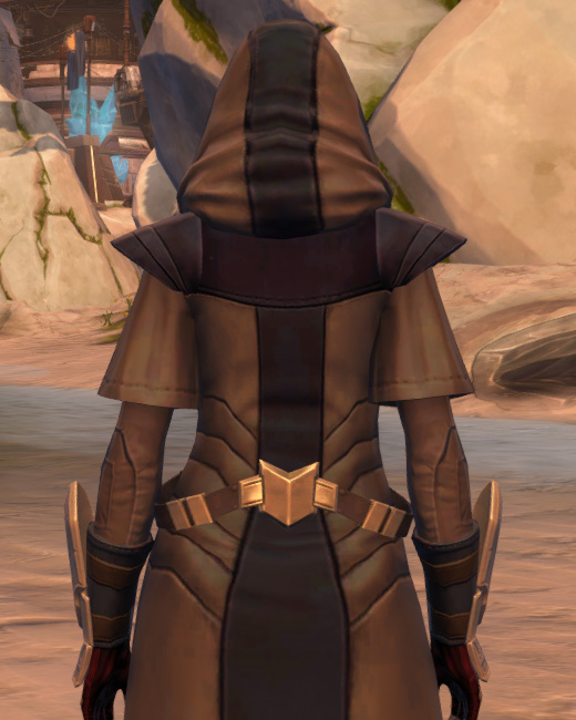 Veda Cloth Vestments Armor Set Back from Star Wars: The Old Republic.