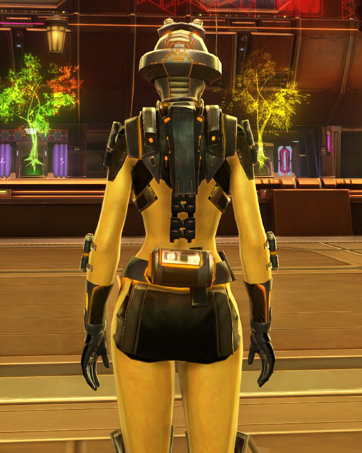 Ventilated Scalene Armor Set Back from Star Wars: The Old Republic.