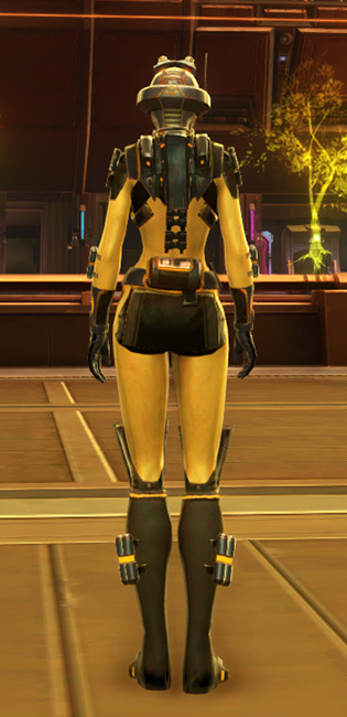 Ventilated Scalene Armor Set player-view from Star Wars: The Old Republic.