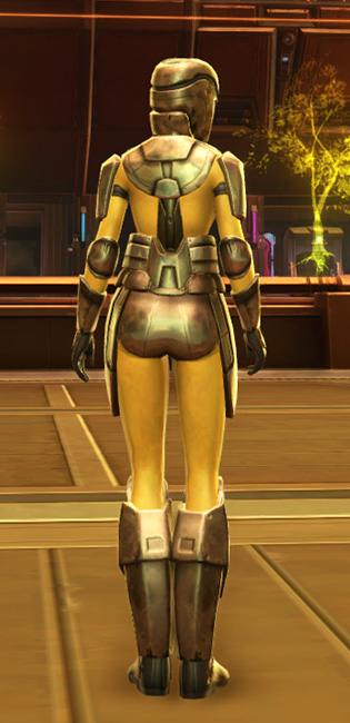 Ventilated Triumvirate Armor Set player-view from Star Wars: The Old Republic.