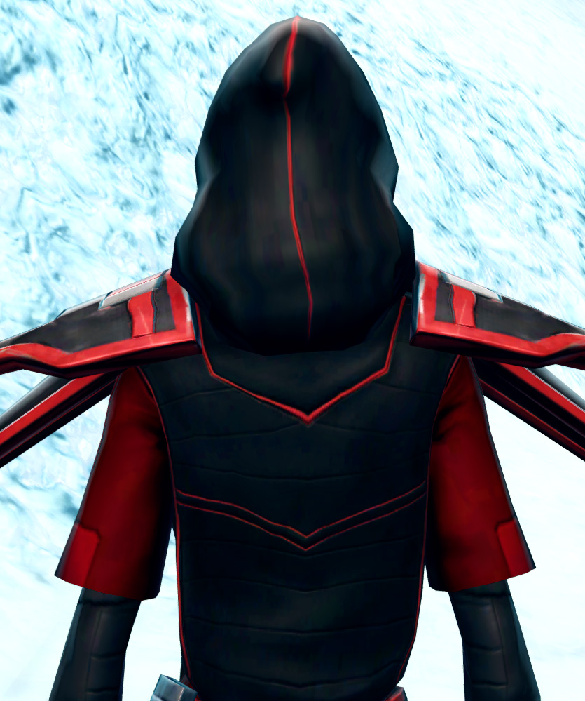 Vicious Adept Armor Set detailed back view from Star Wars: The Old Republic.