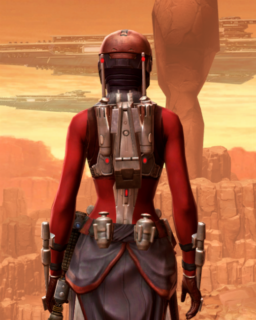 Vine-silk Aegis Armor Set Back from Star Wars: The Old Republic.