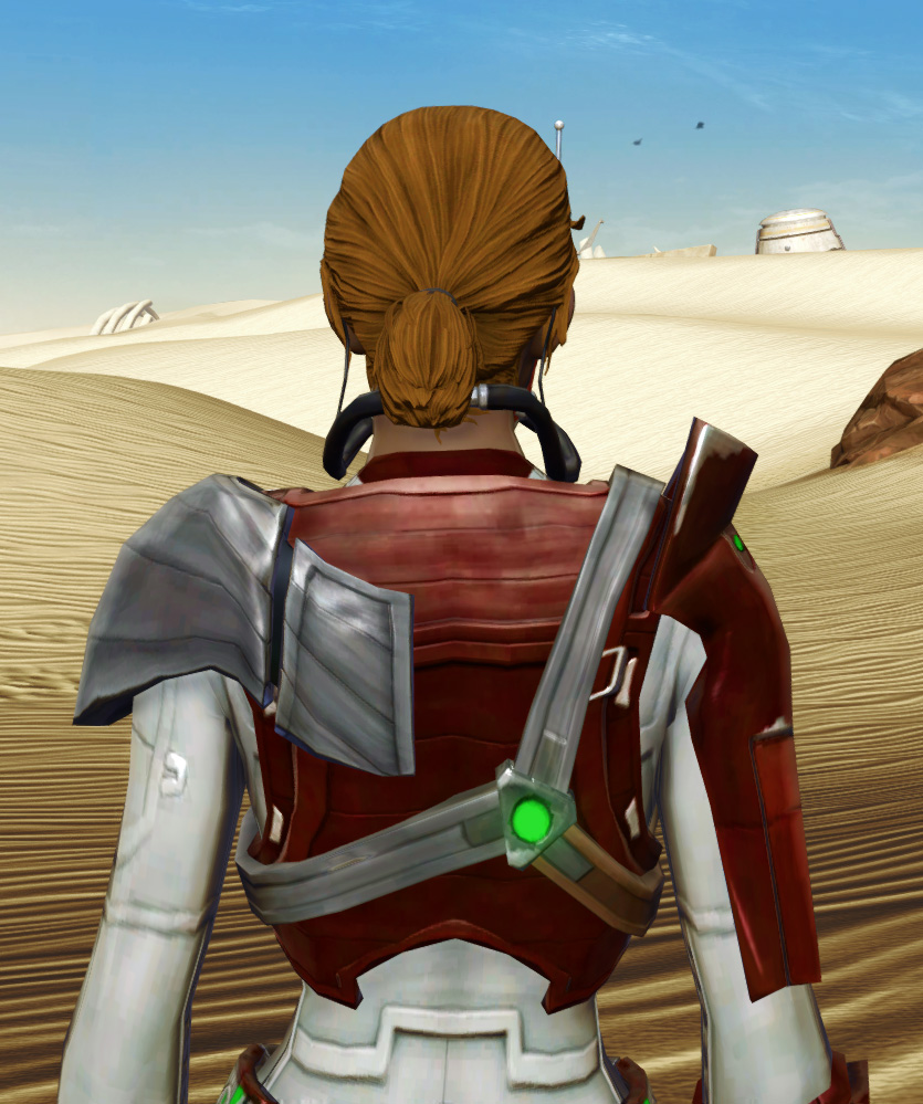 Voltaic Sleuth Armor Set detailed back view from Star Wars: The Old Republic.