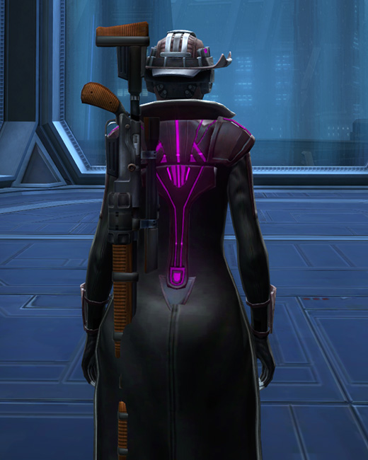 Voltaic Vandal Armor Set Back from Star Wars: The Old Republic.