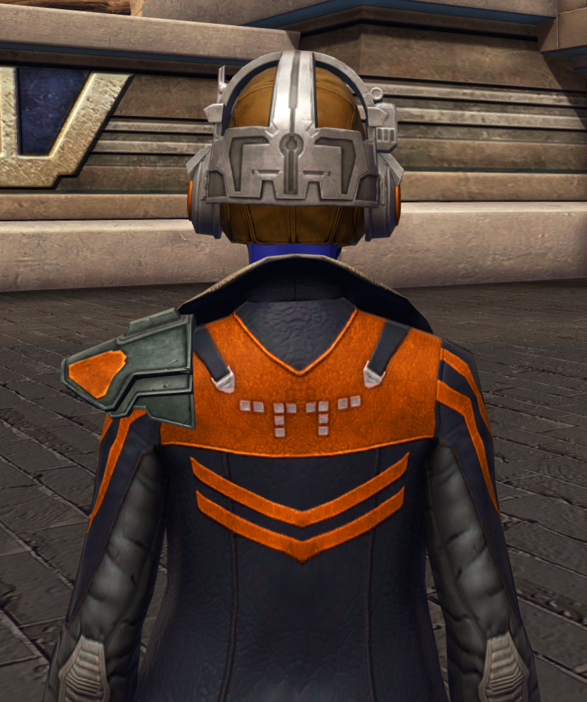 War-Forged MK-0 (Armormech) Armor Set detailed back view from Star Wars: The Old Republic.