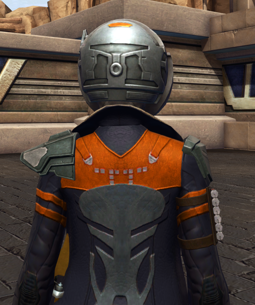 War-Forged MK-2 (Armormech) Armor Set detailed back view from Star Wars: The Old Republic.