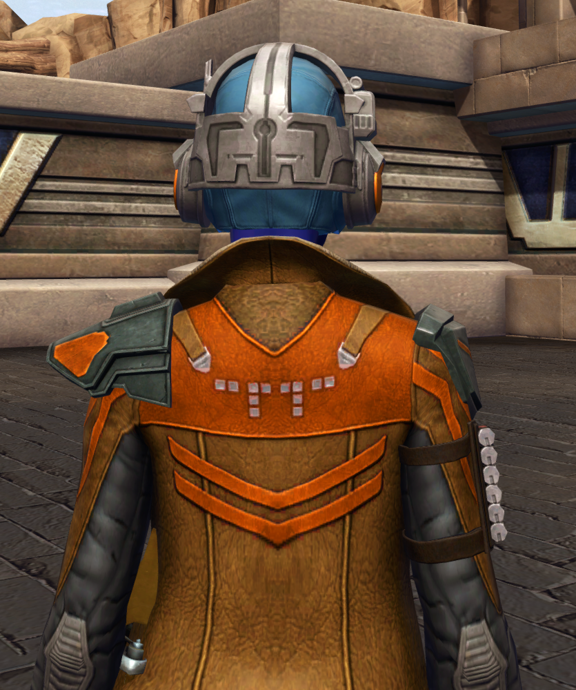 War-Forged MK-3 (Armormech) Armor Set detailed back view from Star Wars: The Old Republic.