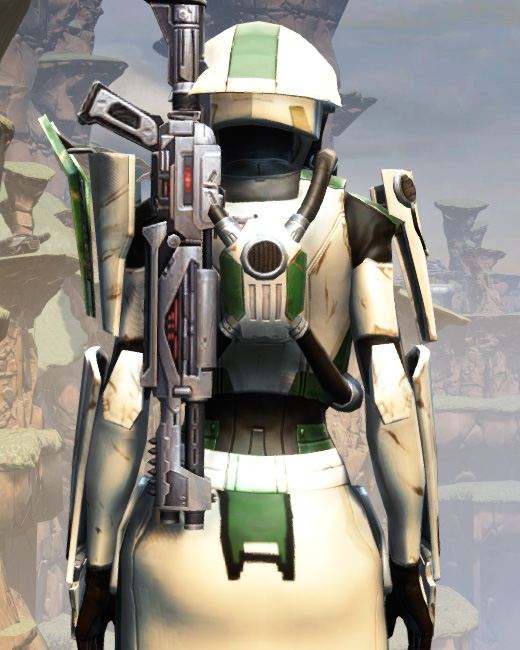 War Hero Eliminator Armor Set Back from Star Wars: The Old Republic.
