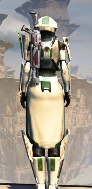 War Hero Eliminator Armor Set player-view from Star Wars: The Old Republic.