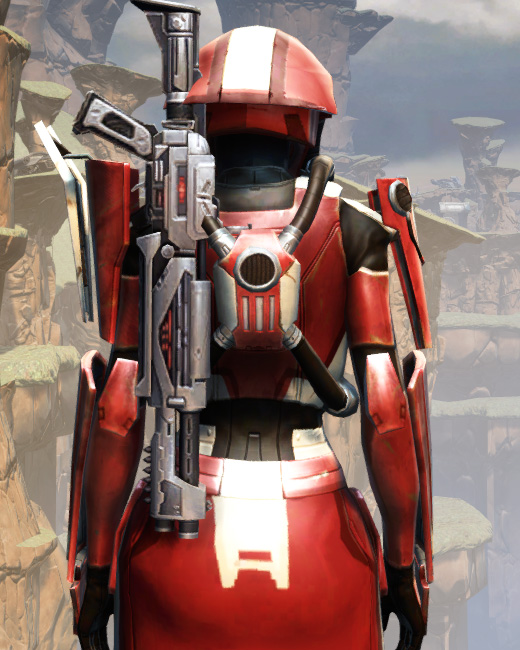 War Hero Combat Tech (Rated) Armor Set Back from Star Wars: The Old Republic.