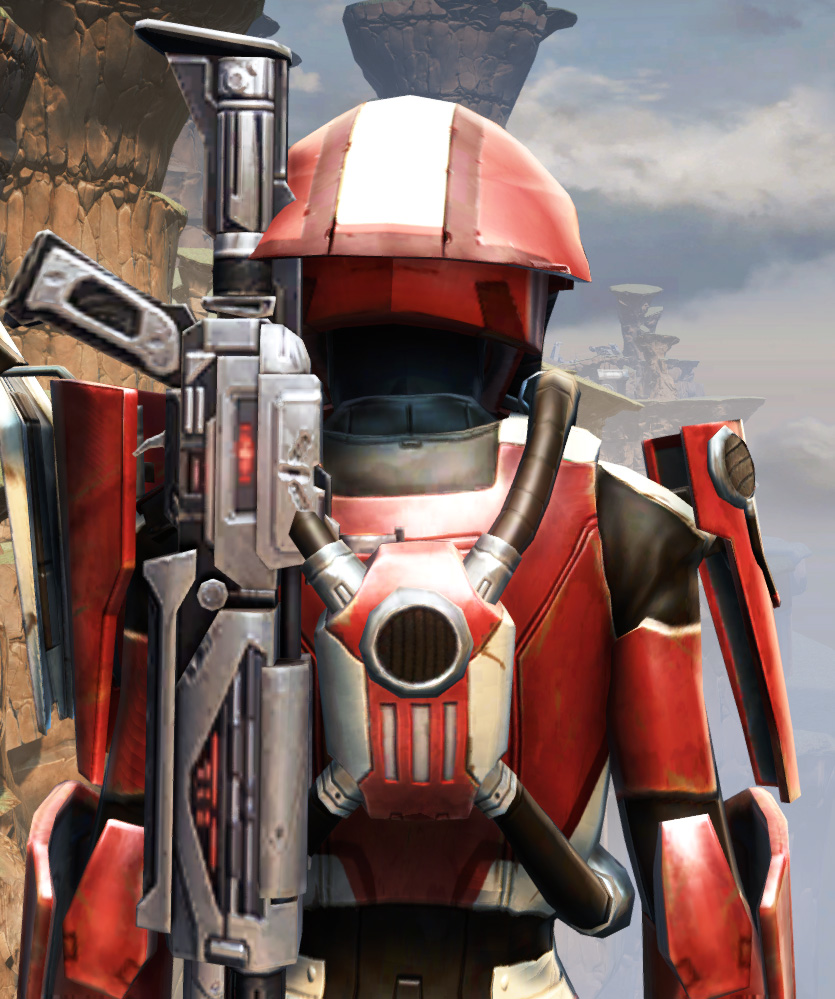 War Hero Combat Tech (Rated) Armor Set detailed back view from Star Wars: The Old Republic.