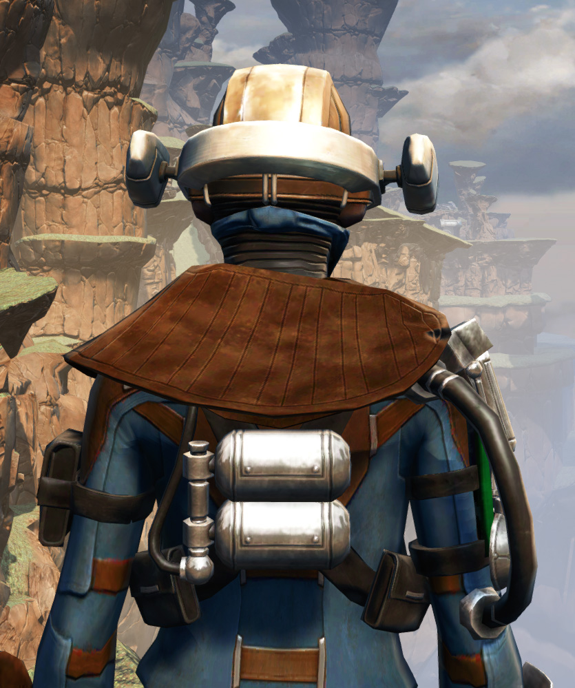 War Hero Field Tech Armor Set detailed back view from Star Wars: The Old Republic.