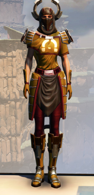 War Hero Force-Master (Rated) Armor Set Outfit from Star Wars: The Old Republic.