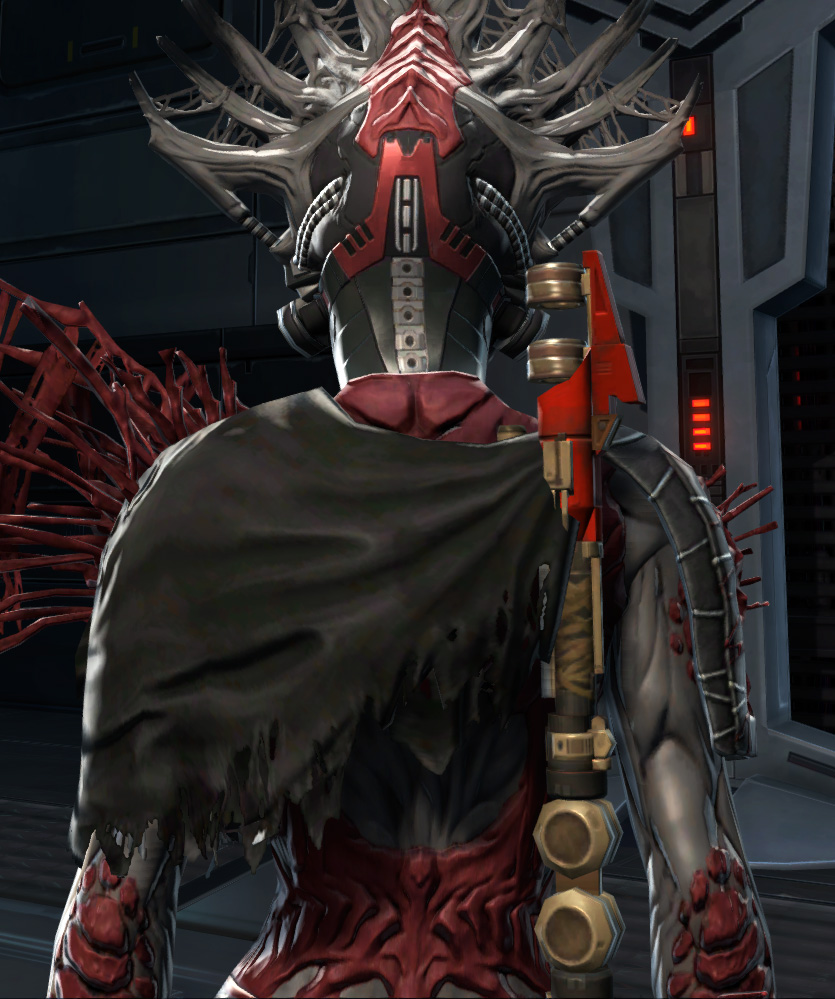 War Hero Survivor (Rated) Armor Set detailed back view from Star Wars: The Old Republic.