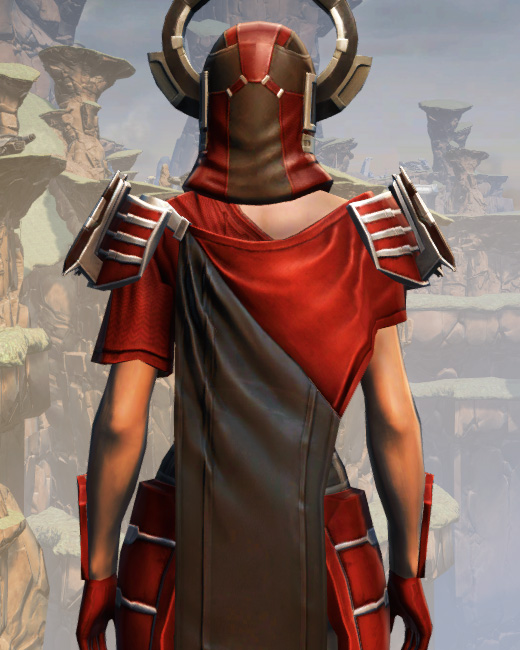 War Hero Stalker (Rated) Armor Set Back from Star Wars: The Old Republic.