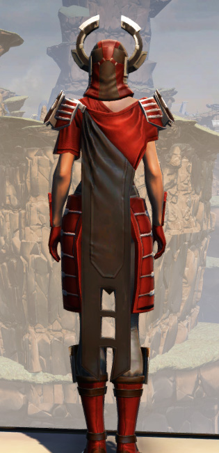 War Hero Stalker (Rated) Armor Set player-view from Star Wars: The Old Republic.
