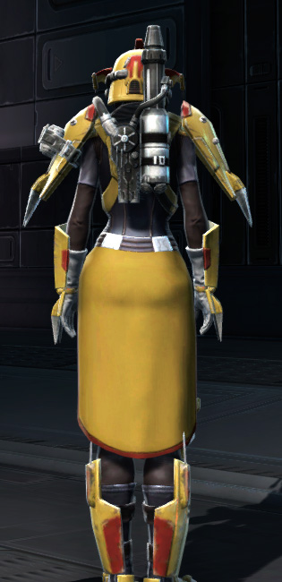 War Hero Combat Tech (Rated) Armor Set player-view from Star Wars: The Old Republic.