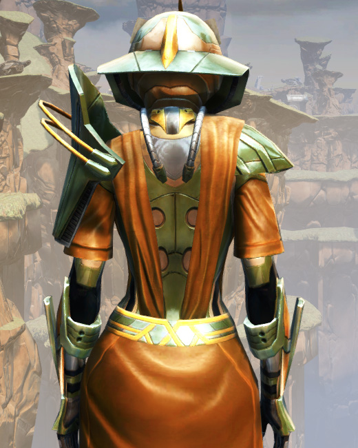 War Hero War Leader Armor Set Back from Star Wars: The Old Republic.