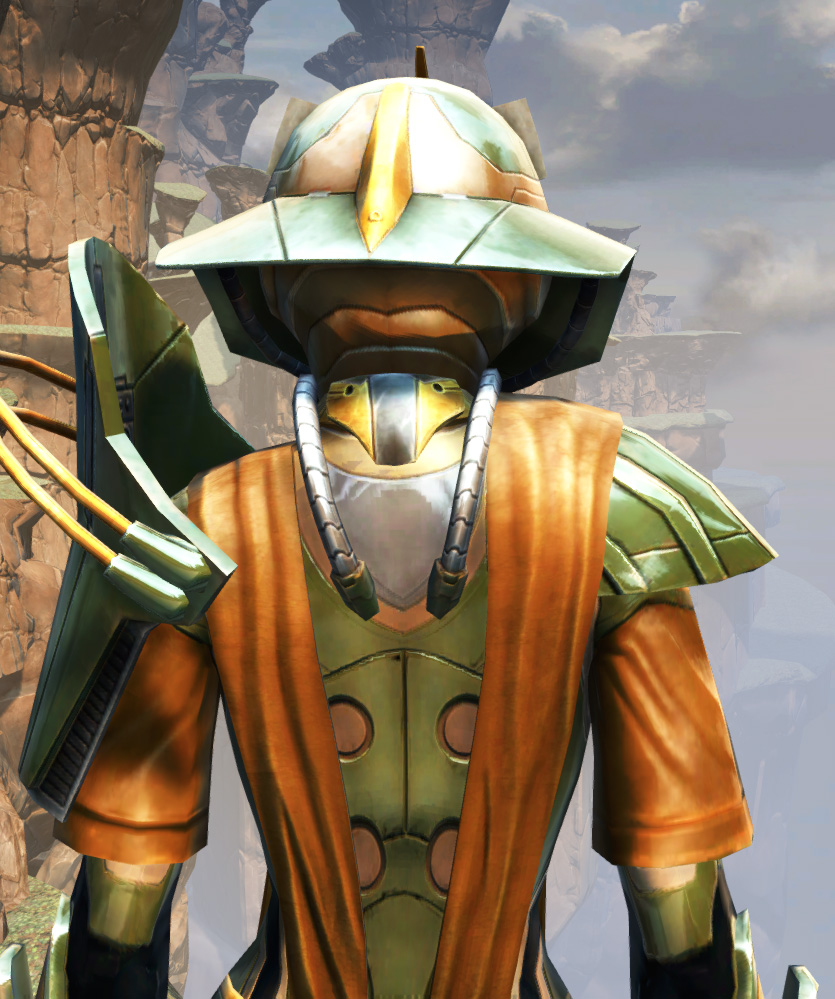 War Hero War Leader Armor Set detailed back view from Star Wars: The Old Republic.