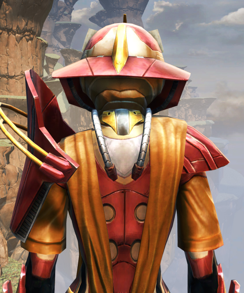 War Hero Weaponmaster (Rated) Armor Set detailed back view from Star Wars: The Old Republic.