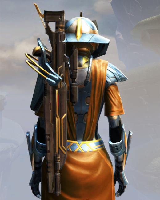 War Hero Weaponmaster Armor Set Back from Star Wars: The Old Republic.