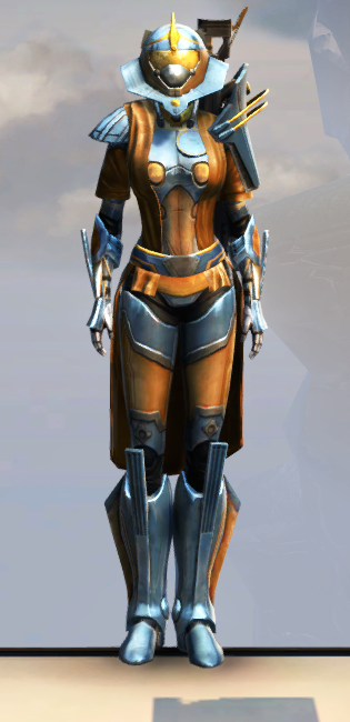 War Hero Weaponmaster Armor Set Outfit from Star Wars: The Old Republic.