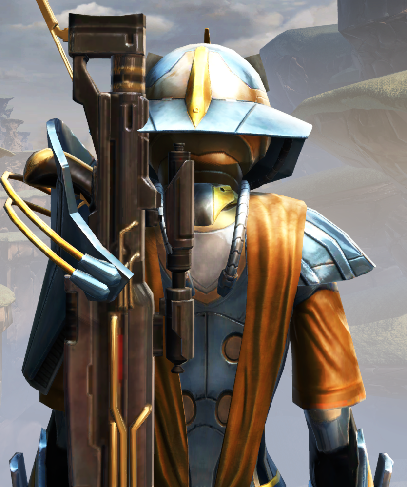 War Hero Weaponmaster Armor Set detailed back view from Star Wars: The Old Republic.
