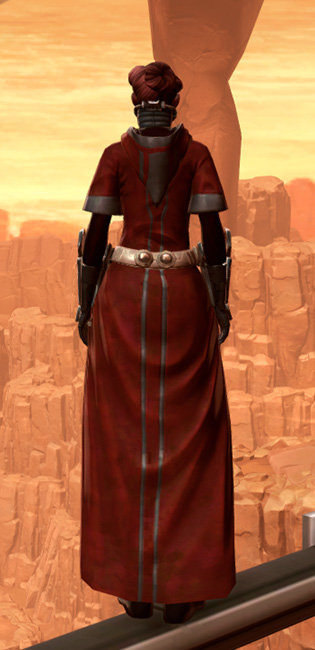 Warlord Armor Set player-view from Star Wars: The Old Republic.