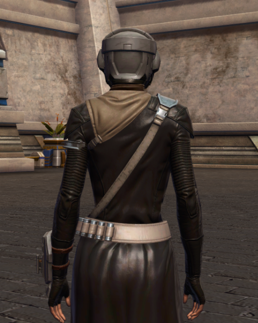 Wayward Voyager Armor Set Back from Star Wars: The Old Republic.