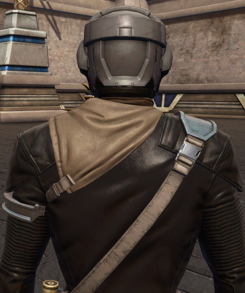 Wayward Voyager Armor Set detailed back view from Star Wars: The Old Republic.