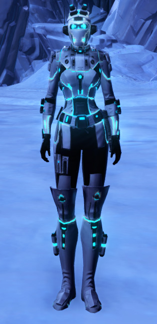 White Scalene Armor Set Outfit from Star Wars: The Old Republic.