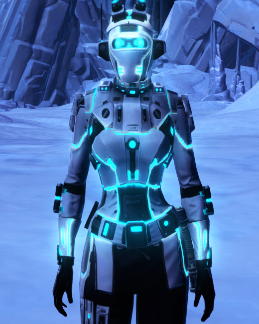 White Scalene Armor Set Preview from Star Wars: The Old Republic.
