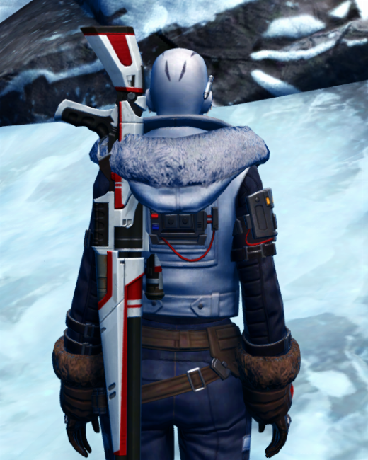 Winter Outlaw Armor Set Back from Star Wars: The Old Republic.