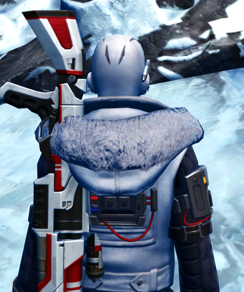 Winter Outlaw Armor Set detailed back view from Star Wars: The Old Republic.