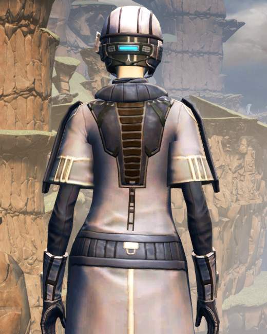 X-3 Techmaster Armor Set Back from Star Wars: The Old Republic.