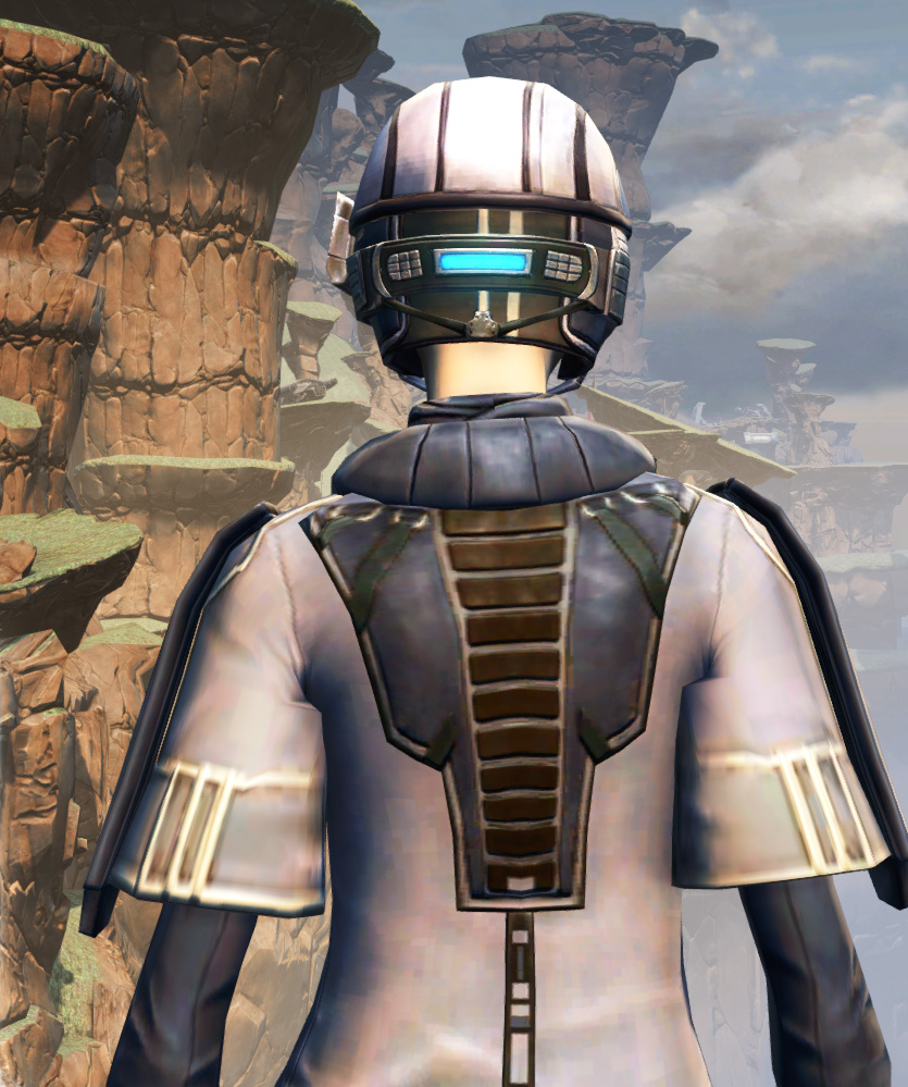 X-3 Techmaster Armor Set detailed back view from Star Wars: The Old Republic.